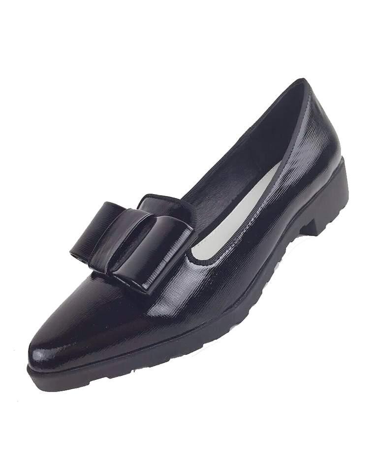 拔草必收 仅248元  Kenzo高田贤  英伦蝴蝶结装饰  十字纹牛皮 尖头单鞋