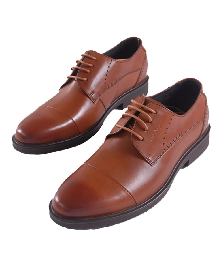 给纯爷们の  仅288元   意大利 Ferragamo 菲拉格慕 男鞋2016新款  双截头 商务正装皮鞋 系带皮鞋