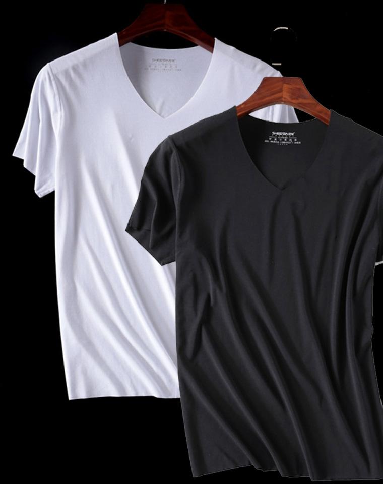 给纯爷们的福利 超舒适的无痕再生纤维  日本订单 仅55元 再生纤维  一片式无痕弹力短袖T恤