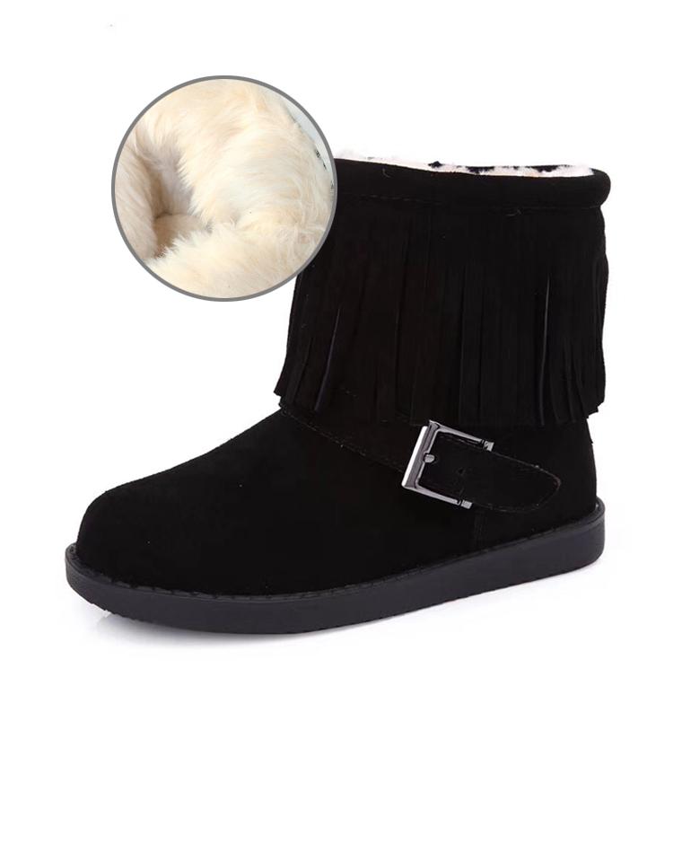 年末回馈  亲妈必收 暖和的不要不要滴  仅88元  英国next纯正原单  流苏翻毛皮 儿童雪地靴短靴 真皮棉靴