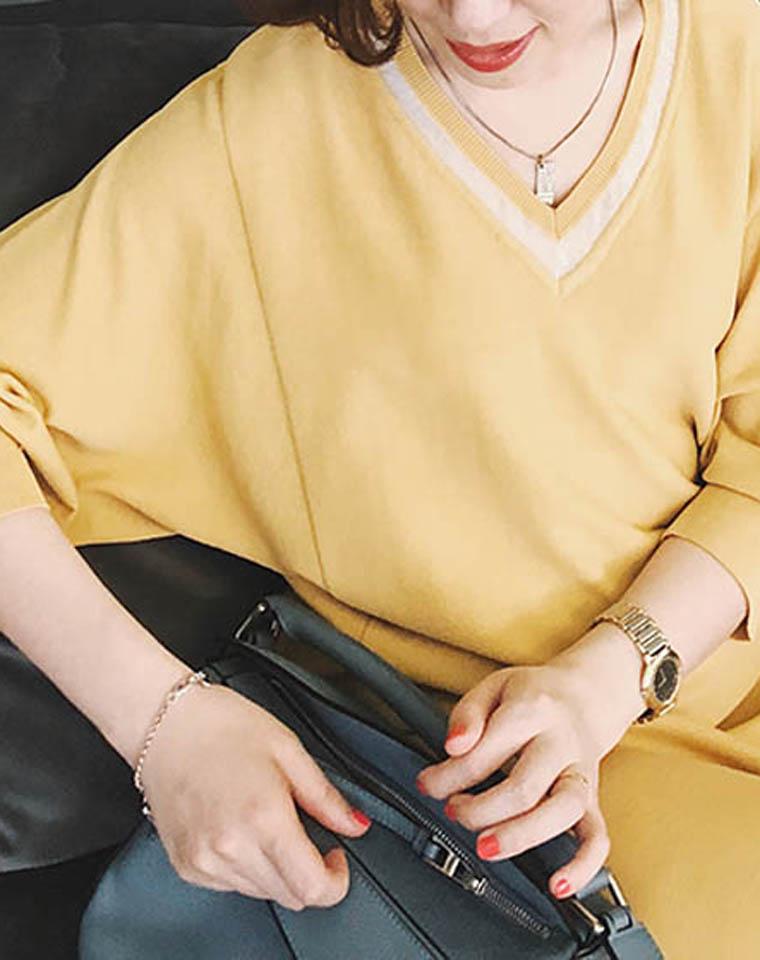 莫要辜负女人身   有细节的品质基本款  仅148元 好品质    时髦冰细节V领 蝙蝠针织衫