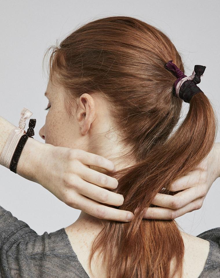 自留十板!!仅16元  西班牙OYSHO纯正原单  出口发圈头绳发带。四色高级感弹力发饰