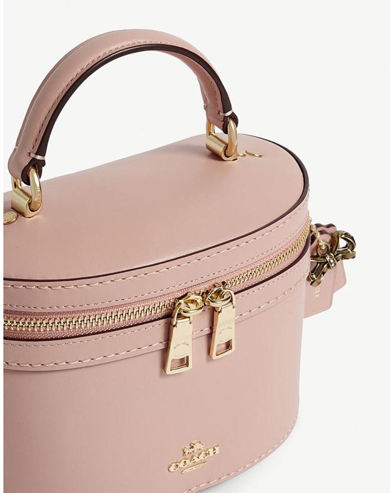 最新减龄洋气盒子包!!!仅258元   COACH 39291 Selena合作系列女士水桶包化妆包 盒子包