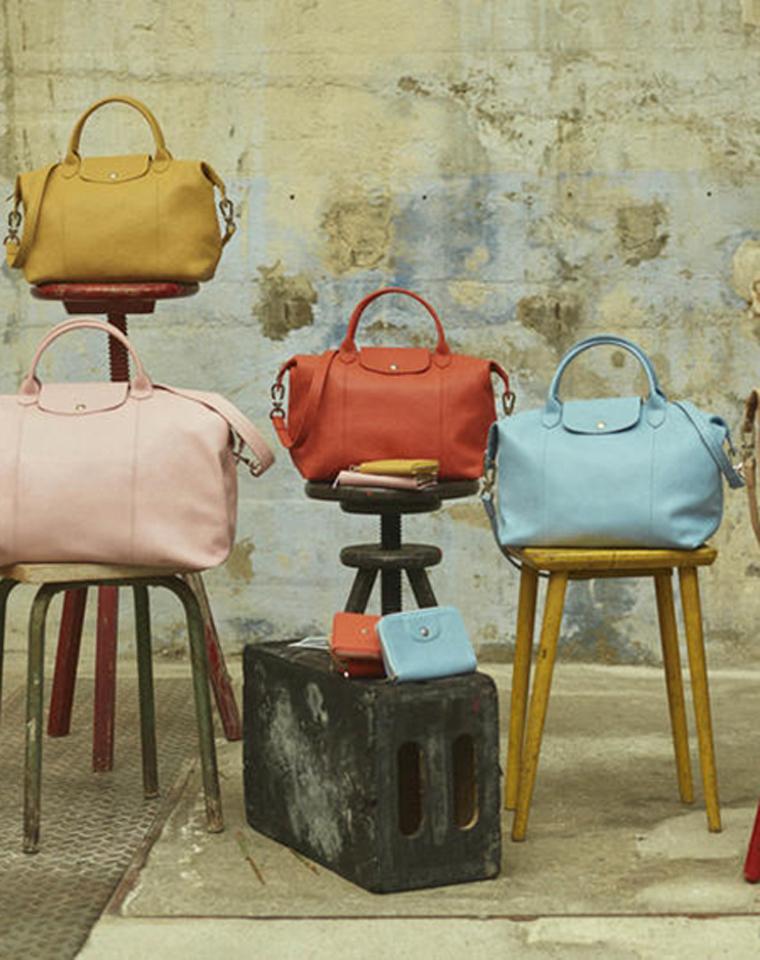 超级硬货!!礼盒装! 仅599元     659元  法国 Longchamp珑骧原单 专柜在售  可折叠小羊皮手提单肩斜跨包