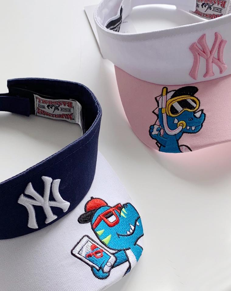 春夏孩子离不了的空顶帽  加长檐 仅39元 MLB纯正原单  NY精致刺绣字母  空顶帽  棉质新款  儿童无顶帽夏季