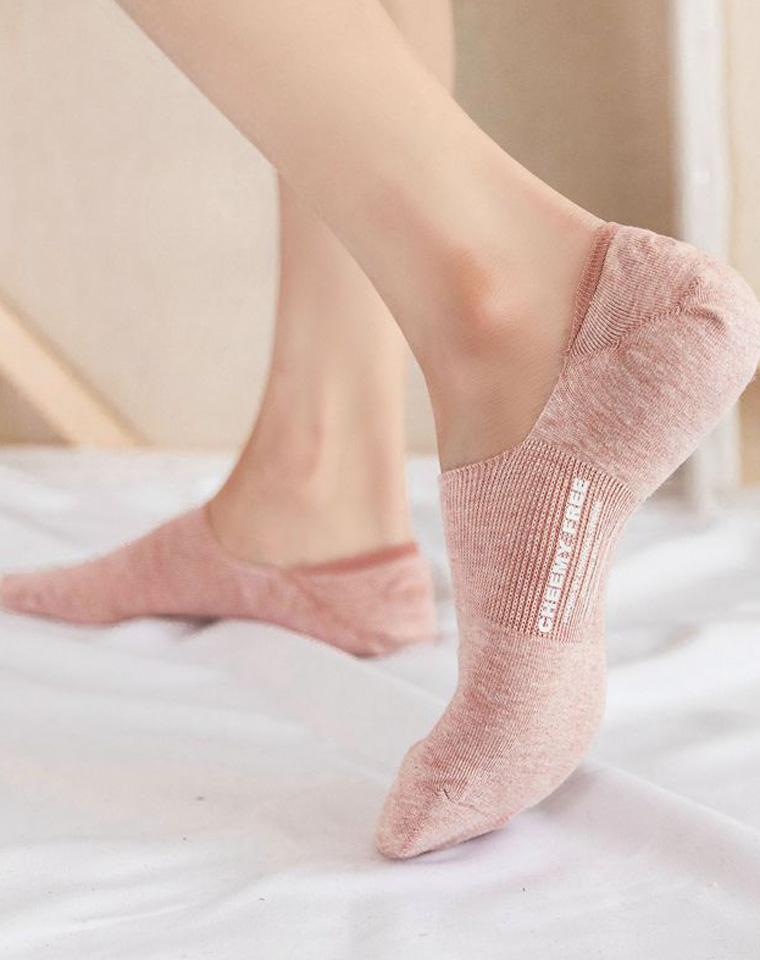 真心好 运动鞋好搭档 仅4.9元  后跟硅胶,夏季浅口隐形袜,舒适棉质收腰贴脚隐形船袜浅口袜