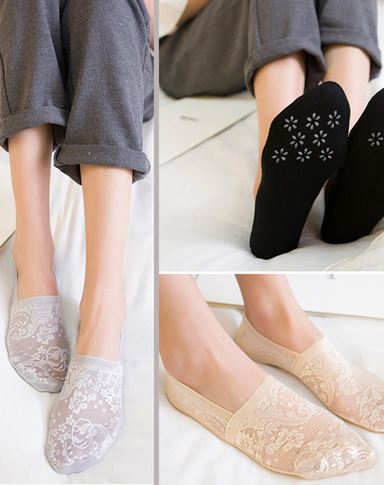 怎么也不掉跟  超好品质  仅5.4元 船袜 防滑袜 棉质袜底 女士隐形薄款袜子