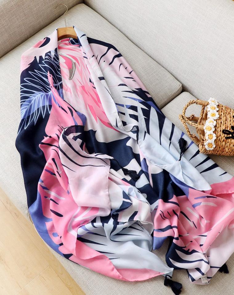 防晒防晒  高颜值超实用! 仅29.9元  夏季防晒沙滩巾 清新花色丝巾围巾披肩