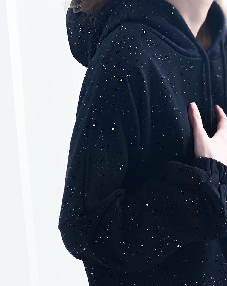 wo最闪亮~ 仅88元  日本订单  超好品质 廓形宽松 微闪轻奢慵懒连帽卫衣