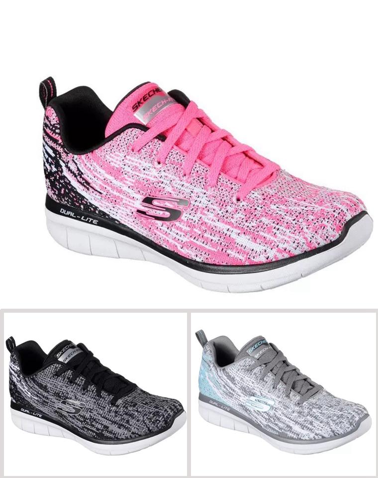 超值福利!! 仅88元 Skechers斯凯奇2019海外版  超轻网布休闲鞋 女系绳运动鞋