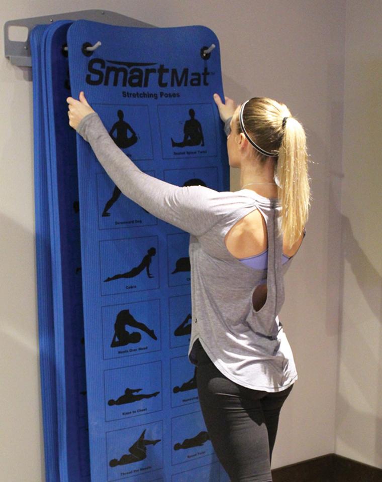 超级牛货!需要抢 仅95元  美国Smartmat纯正原单  一批货正反面印有48个瑜伽基本姿势 加厚瑜伽垫