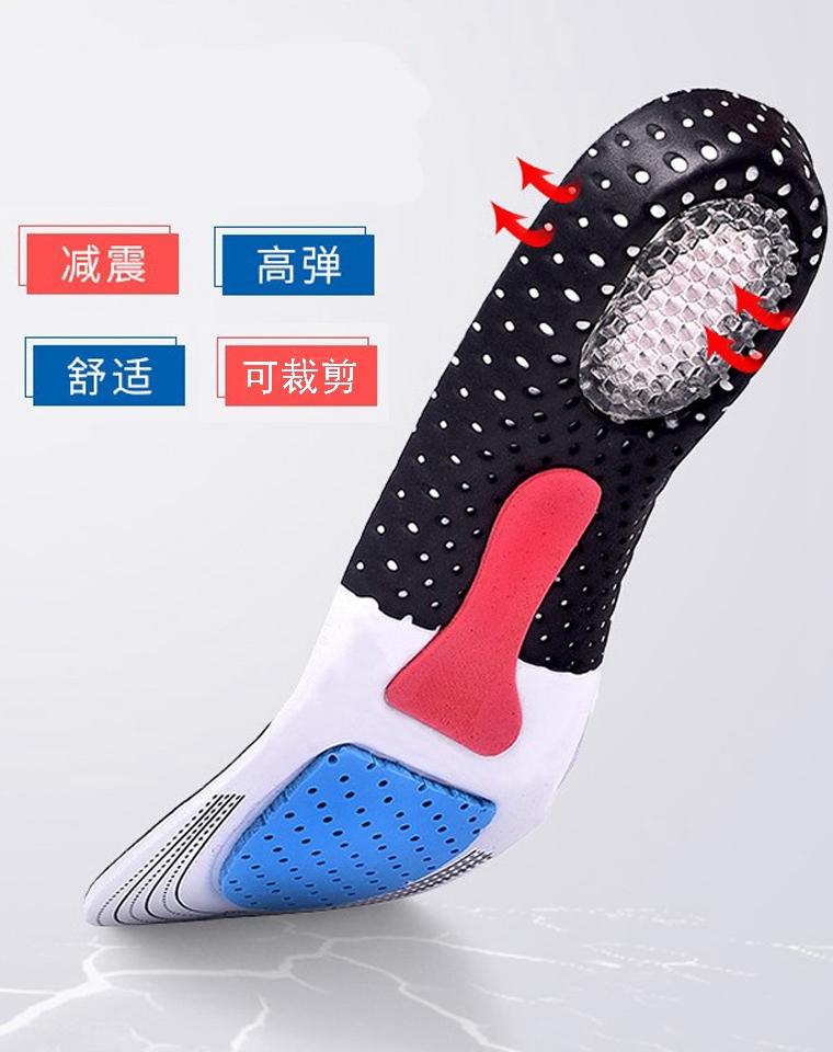 足够专业!男女都有  仅8.5元 可裁剪 高减震科技材质 碳化透气摩擦 全掌减震 鞋垫