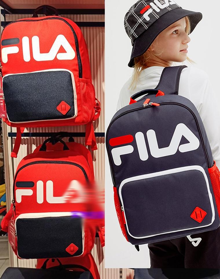给孩子的好货!!!男女生都有  仅145元  Fila纯正原单  护脊双肩背包 轻便儿童书包旅行包
