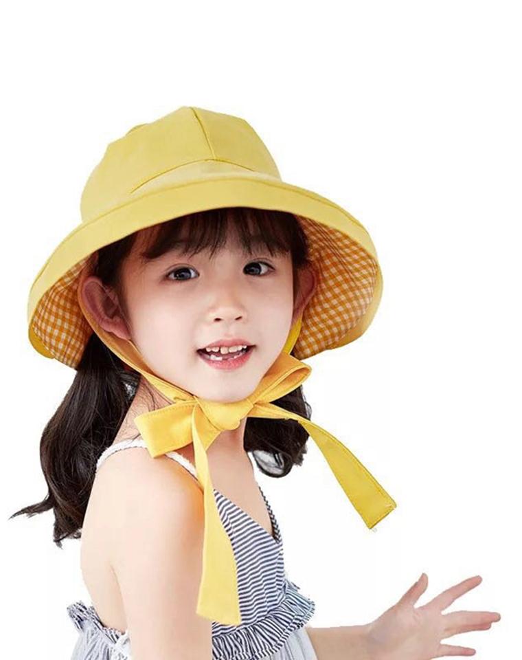 堪比遮阳伞 亲妈必收 双面可戴 格子+纯色 仅48元  日本订单  带魔术调节UV防晒帽  太阳帽 大檐遮阳渔夫帽