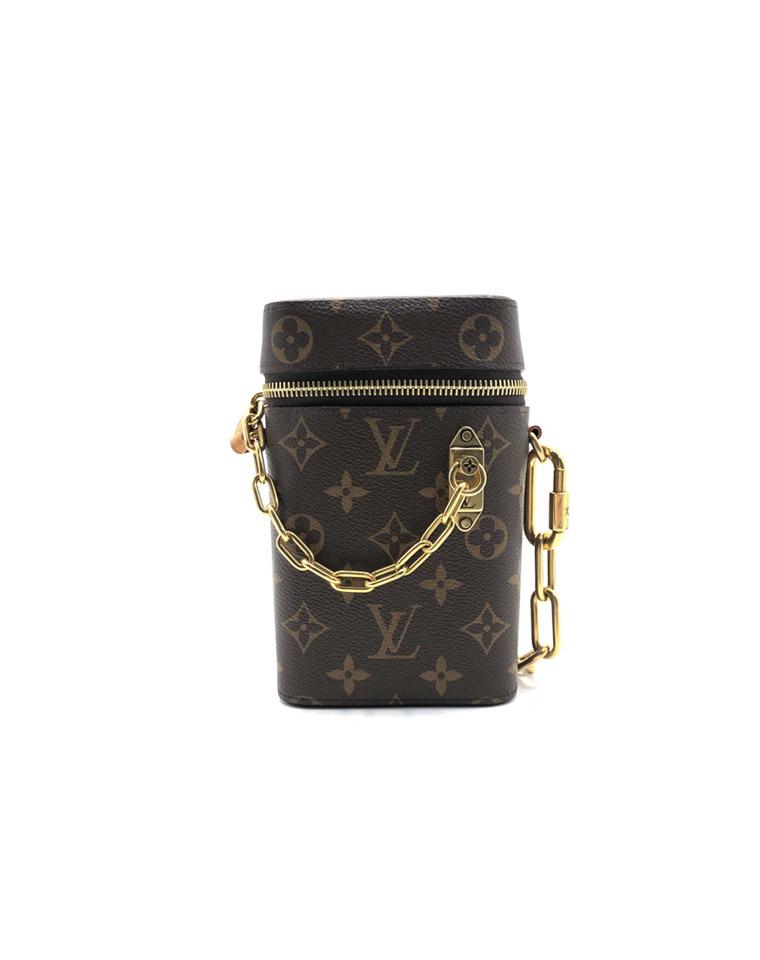 特殊渠道   男女皆可  仅485元  Louis vuitton 路易威登LV   限量链条复古手机包 盒子包 单肩包