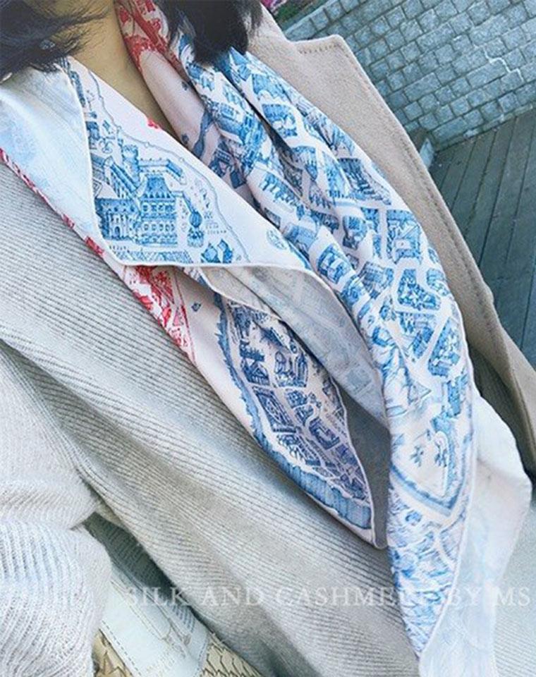 渠道硬货 骏马之城 仅265元  蕞新款专柜很难买到 真丝围巾