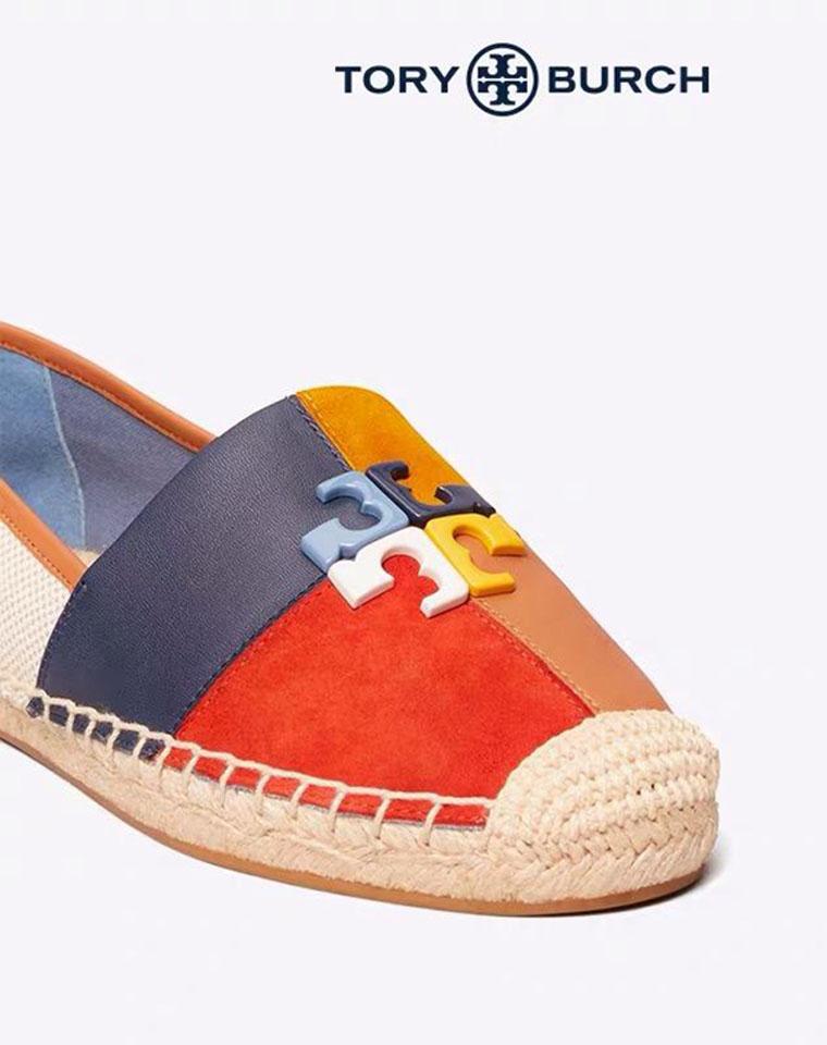 最美配色 最舒适渔夫鞋  仅285元  美国红牌Tory Burch  新配色 超美拼色  又软又经典渔夫鞋