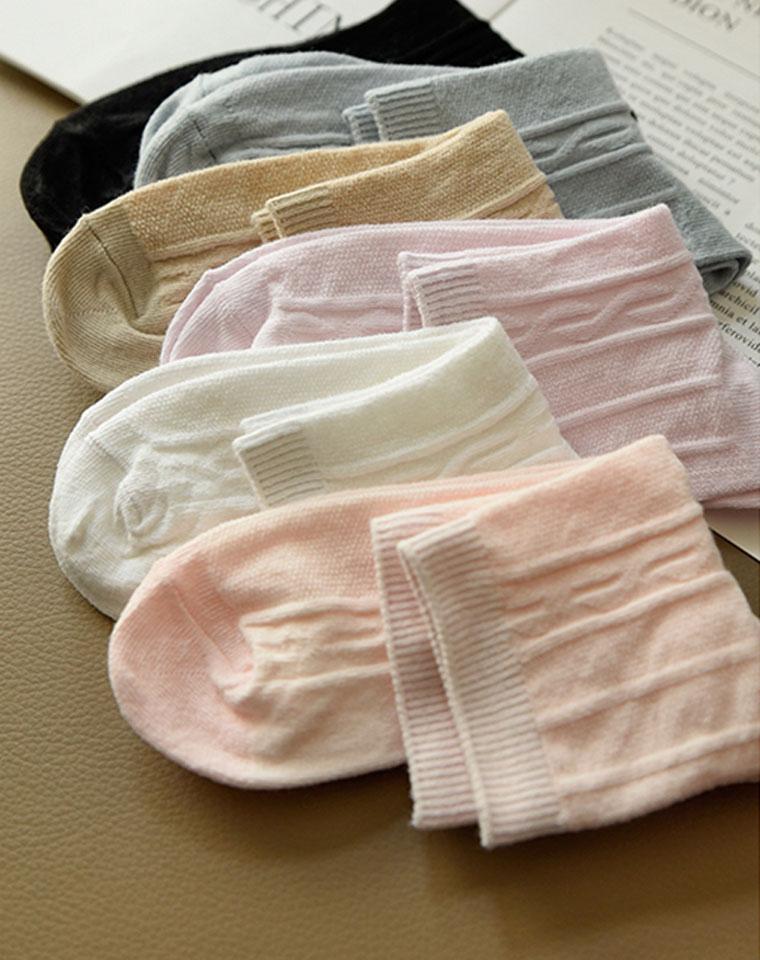 超级好穿!女士纯色中筒养生袜 仅4.8元 弹力针织棉袜子 中大童可穿 春夏新款 女士养生袜