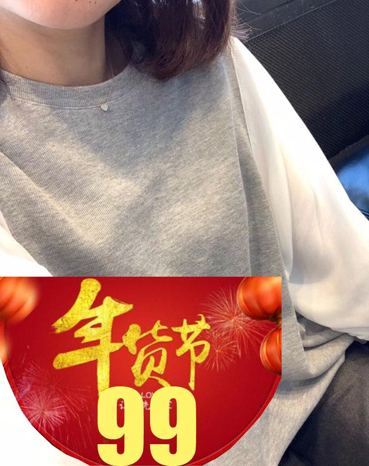 年货节  仅99元 柜上800+ 奏是洋气! 仅118元  客供棉超显瘦 灯笼袖 拼接宽松显瘦T恤 春夏