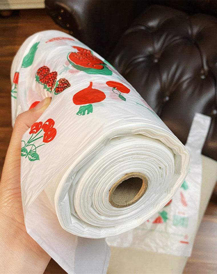妥妥一大卷 足足200个 仅9.9元  一大卷超市购物袋 200只断点式塑料袋