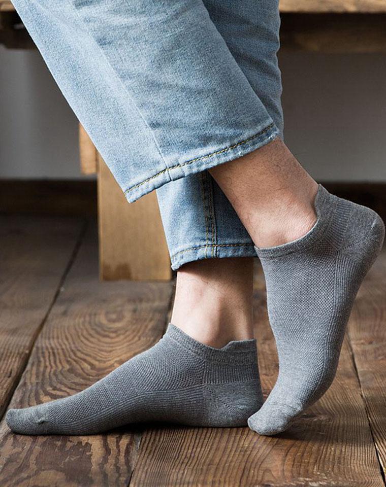 走心设计  加高后跟  仅5.9元  春夏男精梳棉船袜 保护后跟防掉跟  隐形浅口袜 纯色运动低帮短袜