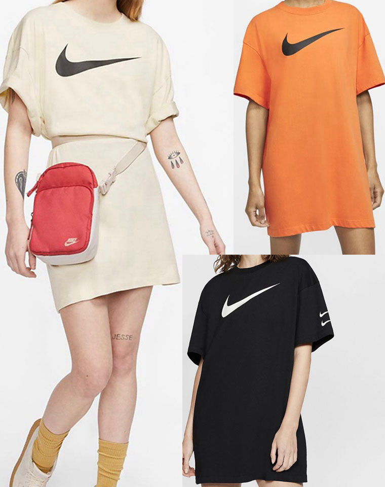 简单好穿  超洋气   仅95元  钩子纯正尾单  品质纯棉  简洁Logo  H型宽松连衣裙