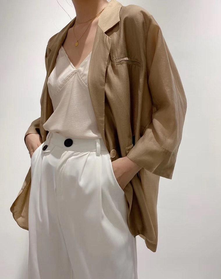 确定亲没见过的轻薄西装外套 大H型 仅128元 Maxmara剪标 天丝 防晒西装外套