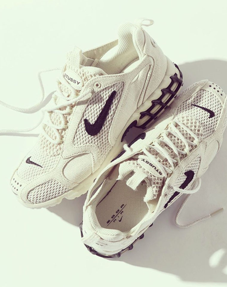 压轴硬核   预售都说丑,上市抢成狗 一夜之间破万   目前蕞火  仅328元  耐克 Stussy x Nike Air Zoom Spiridon Cage Fossil 最新款透气跑鞋!