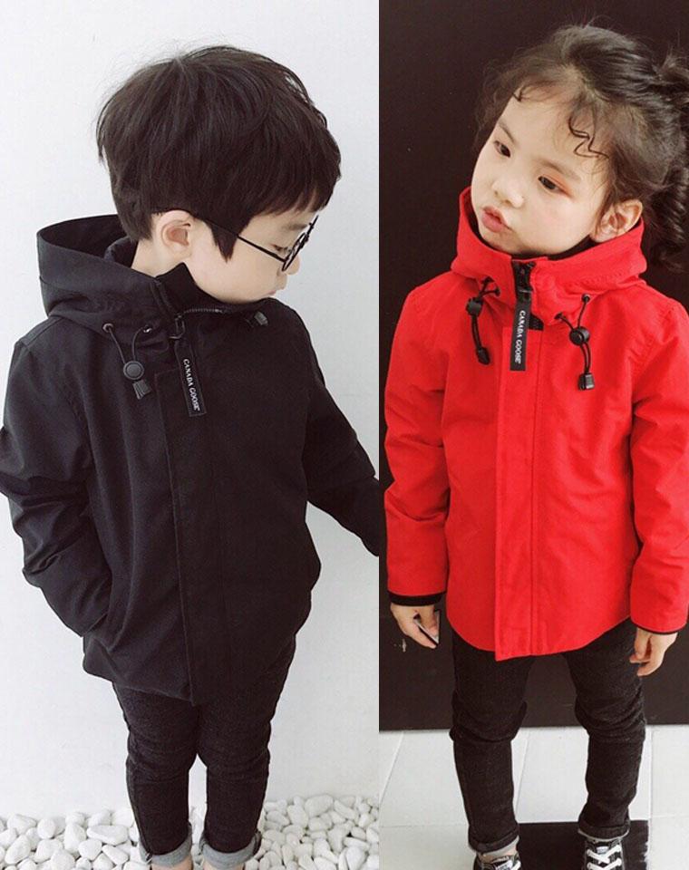 反季福利 男女宝都好穿  仅168元  Canada Goose 加拿大鹅纯正原单   童连帽冲风衣