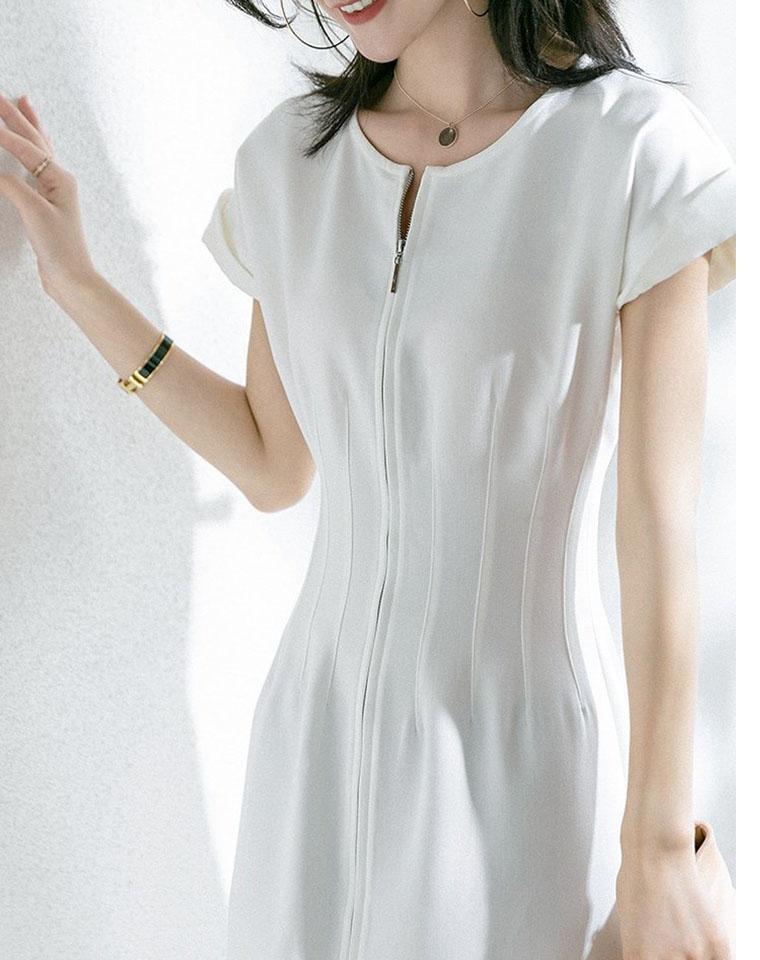 秒杀一众路人     Sandro纯正原单  仅139元 气质名媛风  拉链设计收腰 女神范儿 连衣裙