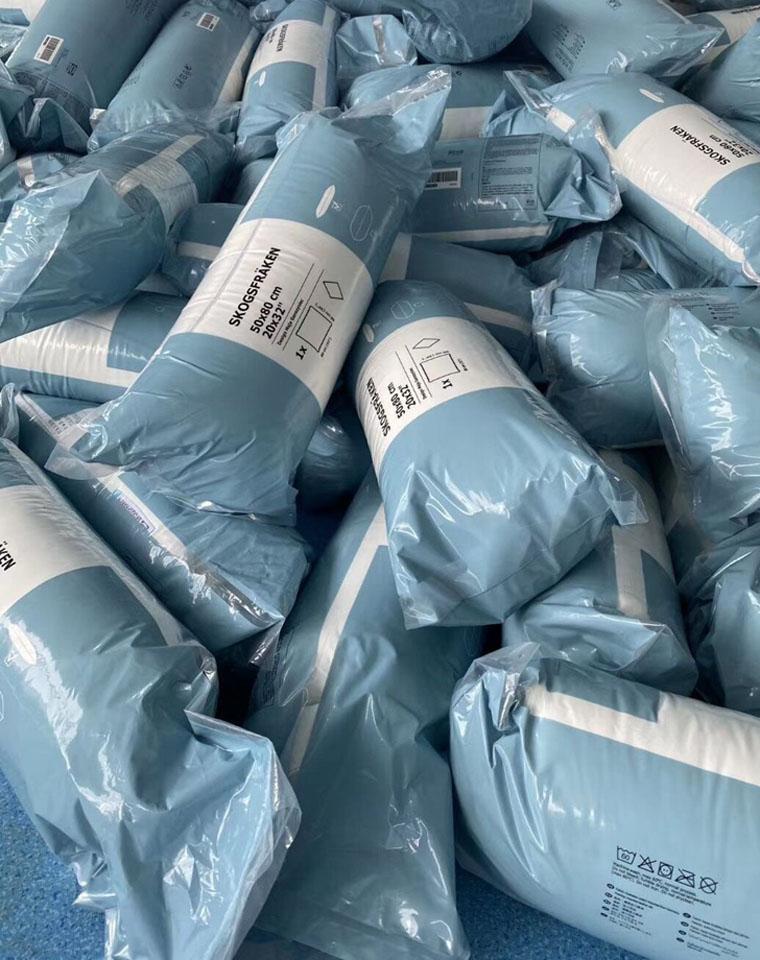 老团员必收强品 有催眠功效 仅65元 宜家单人轻盈柔软舒适羽绒丝棉枕头
