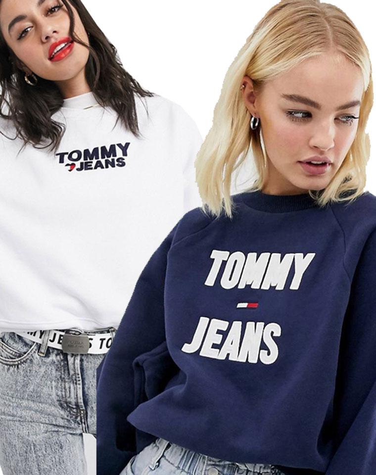有细节的品质款  仅99元  美国Tommy Hiligher汤米纯正原单    2020最新秋季  多种工艺的刺绣贴布  减龄廓形卫衣