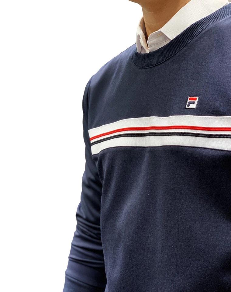 给纯爷们の  不挑人人人都要有 仅95元  法国FILA斐乐纯正原单  2020最新秋季男装简约条纹 长袖卫衣