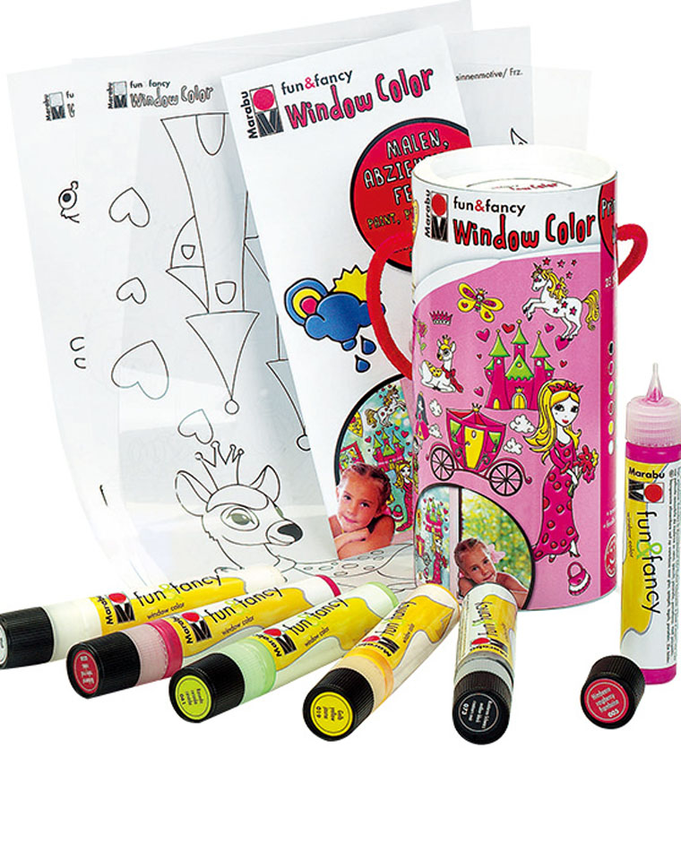 给孩子の礼物  公主款DIY 优漫卡通 仅6.8元 当好妈 德国马乐宝玻璃窗彩创意涂鸦颜料套装