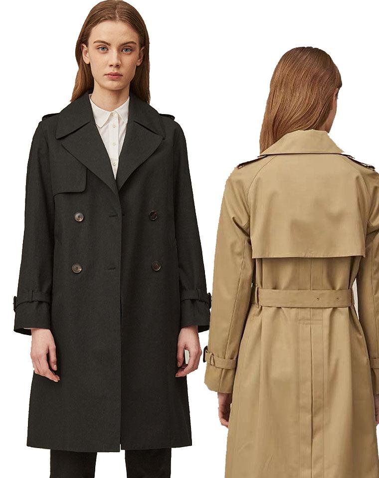 千挑万选  分享最经典  Hazzys哈吉斯双排扣风衣 仅368元 2020新款中长款女士大衣气质宽松外套