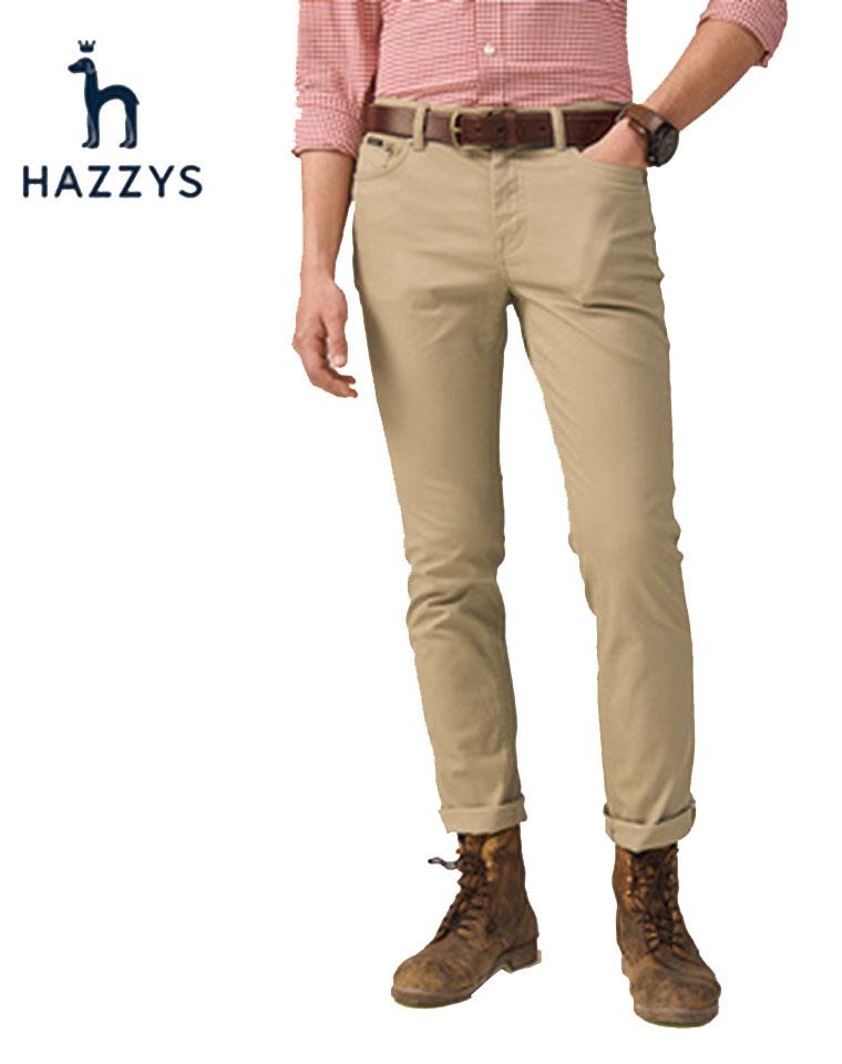 给纯爷们の   超级舒服 微弹力  仅135元 Hazzys哈吉斯纯正原单  客供微弹力 细密斜纹全棉 长裤