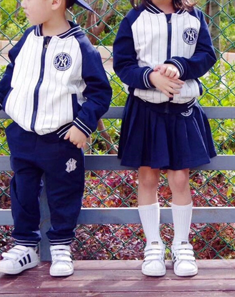 亲妈必收 超拉风兄妹装!!实穿的拉链款  仅118元 男女童都有! MLB超人气儿童 拉链套装!