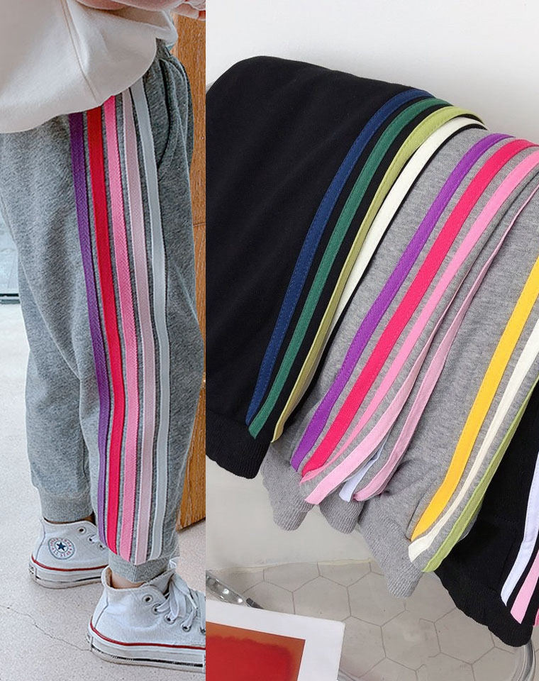 亲妈必须 超实穿的彩虹卫裤  男童女童都好穿  仅49元   2020最新纯正原单  纯棉收口卫裤