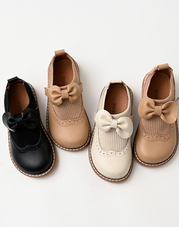 法式CHIC学院风  亲妈必收  仅98元  女童 牛皮英伦风小皮鞋 公主鞋  学生演出儿童黑皮鞋中大童 童鞋