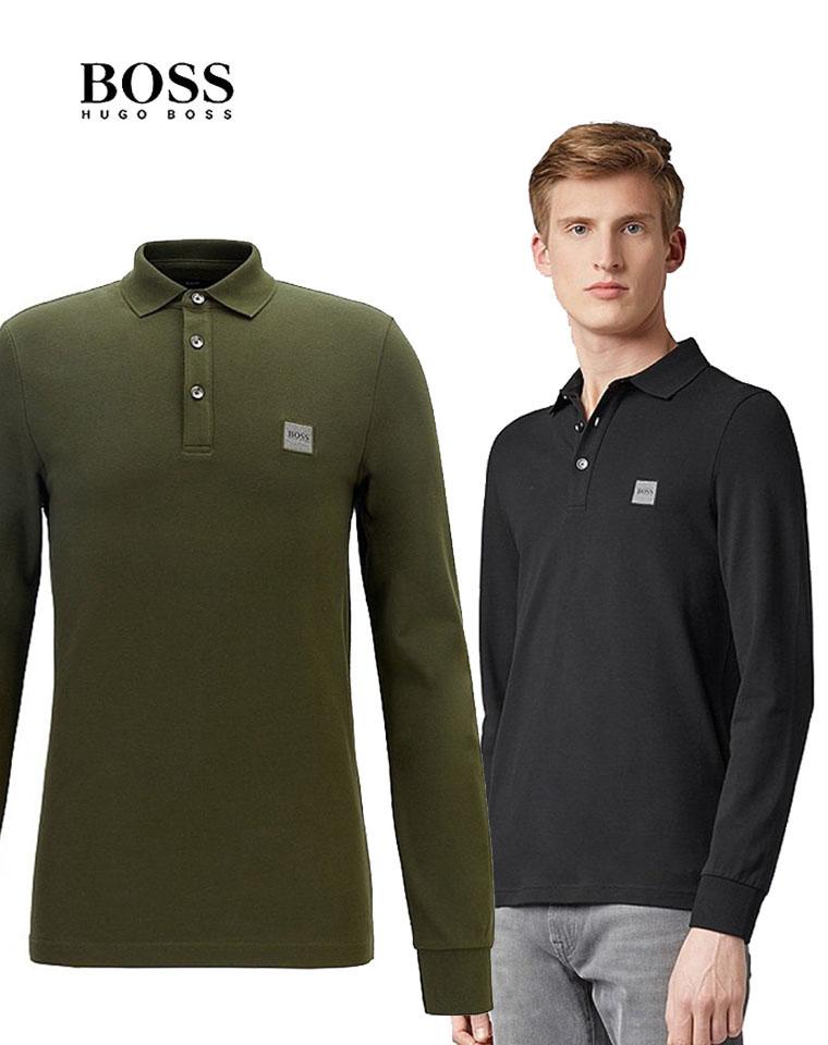 老板就要BOSS牌 仅148元  BOSS纯正原单  2020秋季新款男士T恤衫   珠地翻领纯色Polo长袖衫