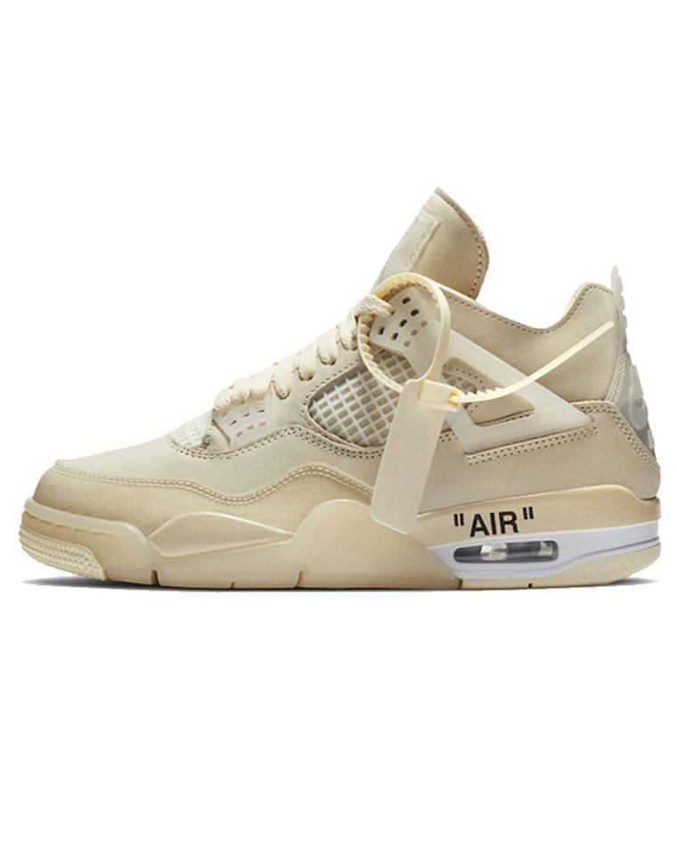 超拉风男女款  仅398元 Air Jordan 4 x Off-White AJ4 OW联名白帆蝉翼篮球鞋