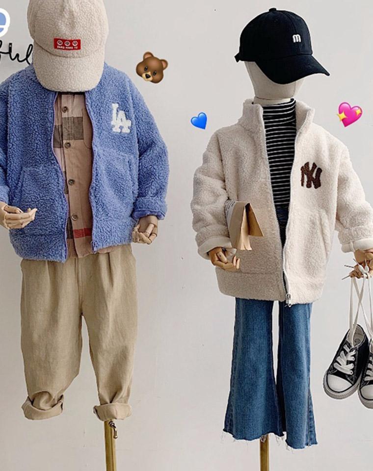 亲妈必收 独家独家外面真没有!仅98元   后背大字母   韩国MLB纯正原单  NY洋基队 人造羊羔绒  保暖外套
