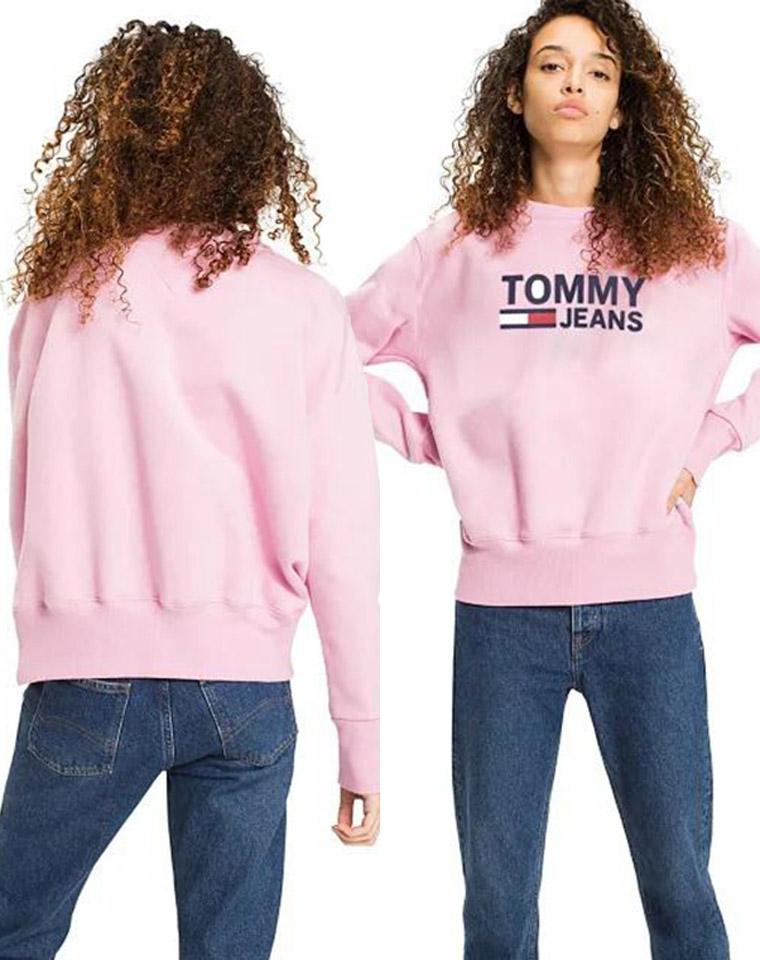 硬货一批  !!!减龄大字母 仅49.9元 美国Tommy Hiligher汤米纯正原单  内里加绒 宽松圆领套头 卫衣