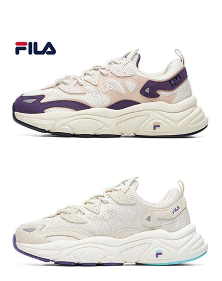 推荐指数10颗星 自带美图效果  男女款 仅185元  FILA斐乐男女款老爹鞋 复古运动鞋