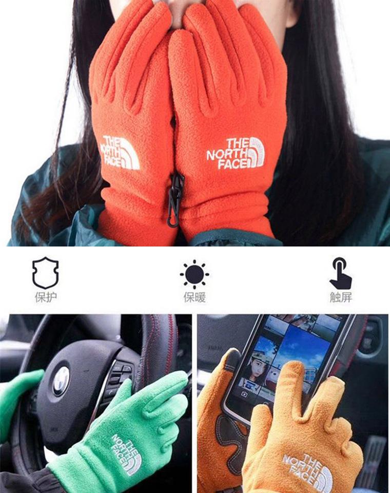 超好可触屏 男女款  仅39元   The Northface北面纯正原单  触屏 运动型手套 户外抗风手套