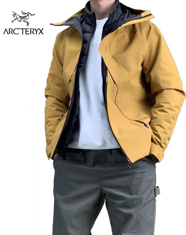 御寒圣品!男女款超实穿!鹅绒!仅488元  Arcteryx始祖鸟  三合一可拆卸!活里活面 连帽户外防水机能羽绒服!