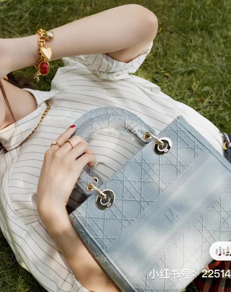 双11尖货   仅1688元   Dior迪奥 LadyDior25周年献礼特别版  LADY D-LITE刺绣戴妃包
