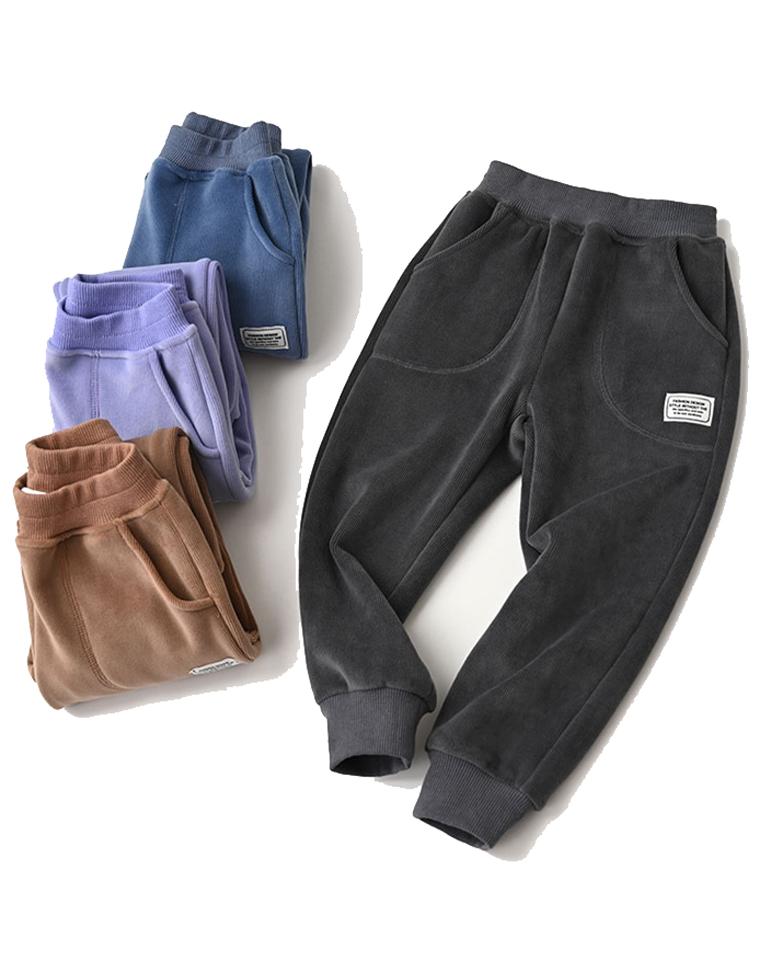 超暖超柔软   仅49元 确定回购 一条太少~ 孩女孩都好穿 儿童加绒收口卫裤 秋冬卫裤