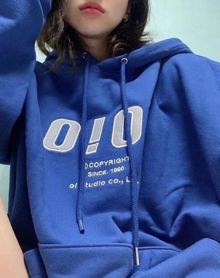 至IN潮品 超好品质 仅128元  OIOI纯正原单   高端男女款 经典加绒加厚套头卫衣
