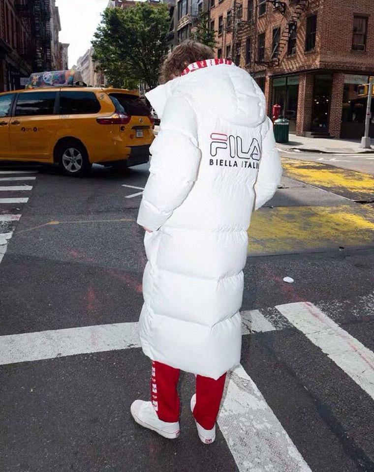 绝对保暖  男女同款  仅398元  Fila纯正原单  长款羽绒服